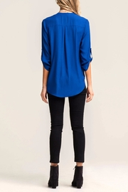Lush Lovely Blue Blouse - Side cropped