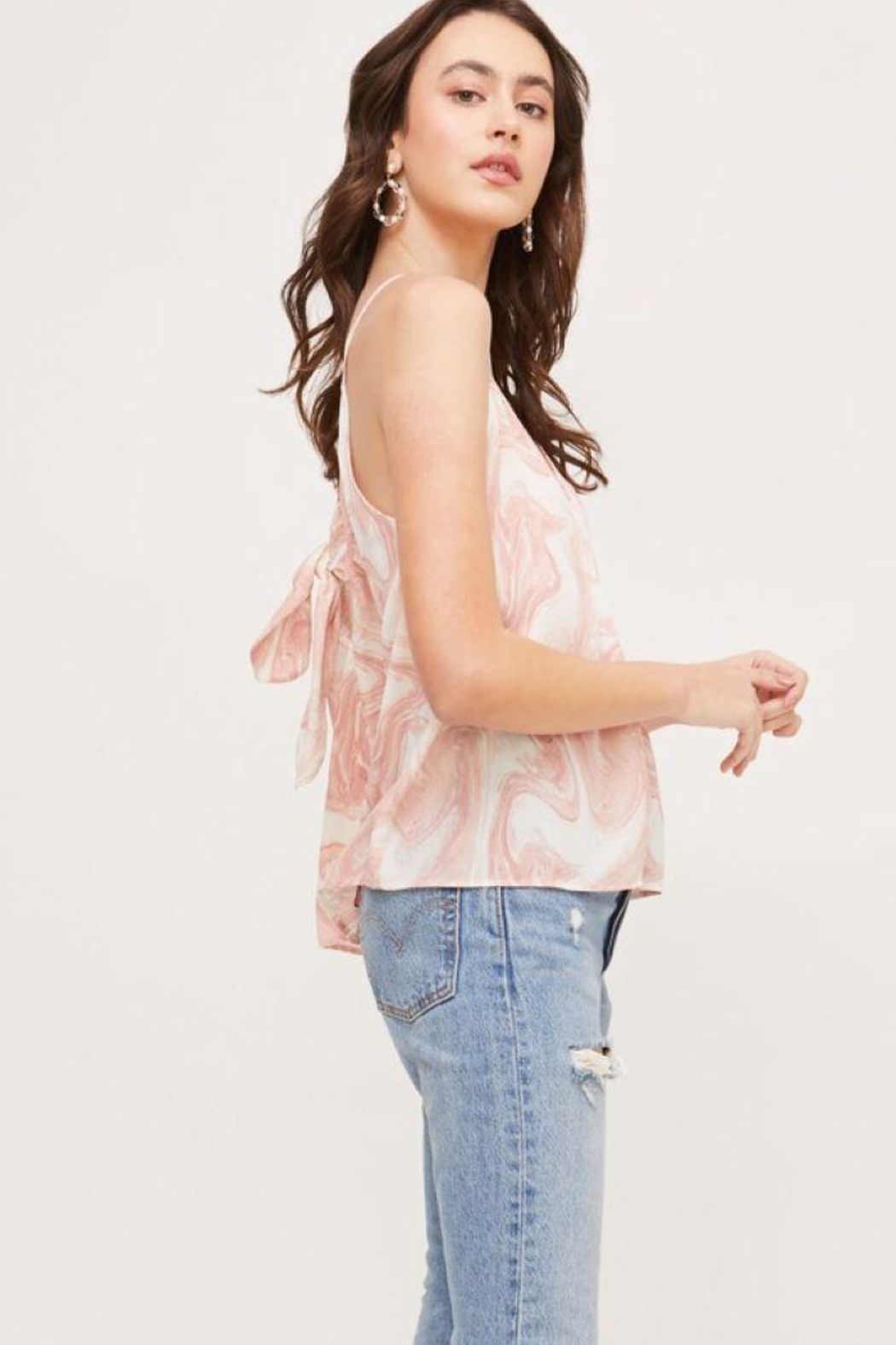 Lush Bow Back Tank Top - Side Cropped Image