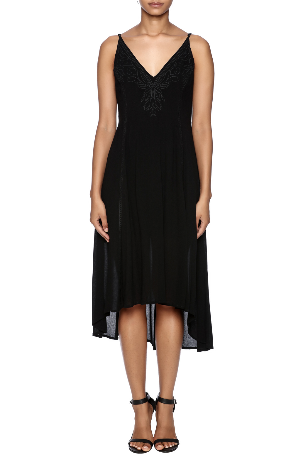 Lush Braelyn Embroidered Dress - Front Cropped Image