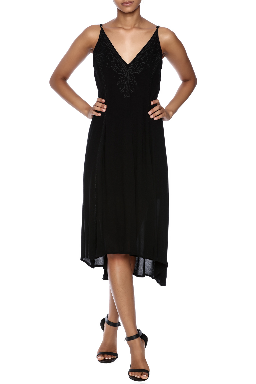 Lush Braelyn Embroidered Dress - Main Image