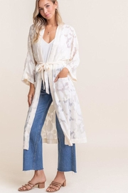 Lush Burnout Chiffon Cardigan - Product Mini Image