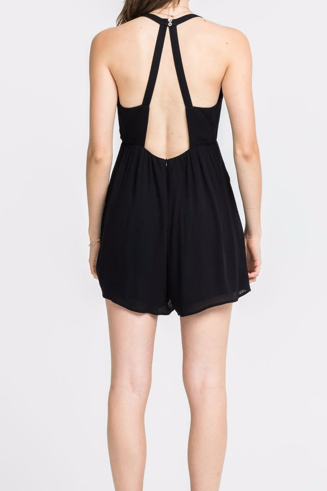 Lush Button Babe Romper - Front Full Image