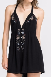Lush Button Babe Romper - Front cropped