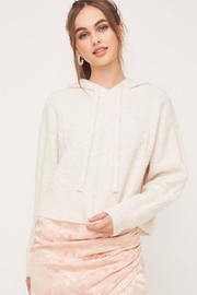 Lush Cable Hoodie Sweater - Product Mini Image