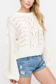 Lush Cable-Knit Pullover Sweater - Other