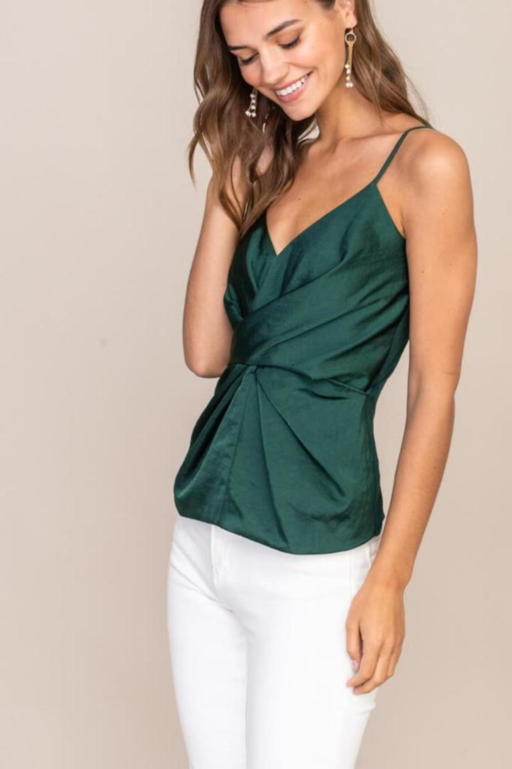 Lush Cami Front-Twist Top - Front Full Image
