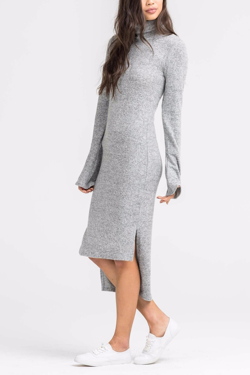 Lush Camille Sweater Dress - Front Full Image