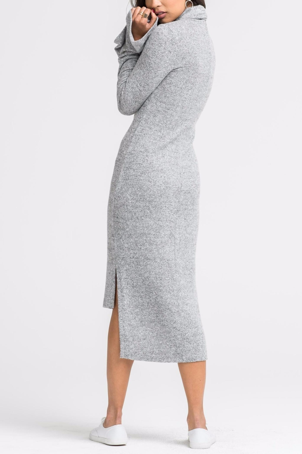 Lush Camille Sweater Dress - Side Cropped Image