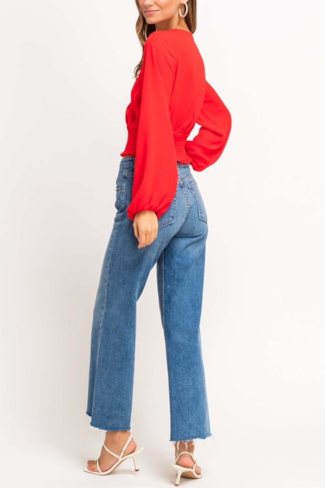 Lush Cherry Pop Crop Top - Side Cropped Image