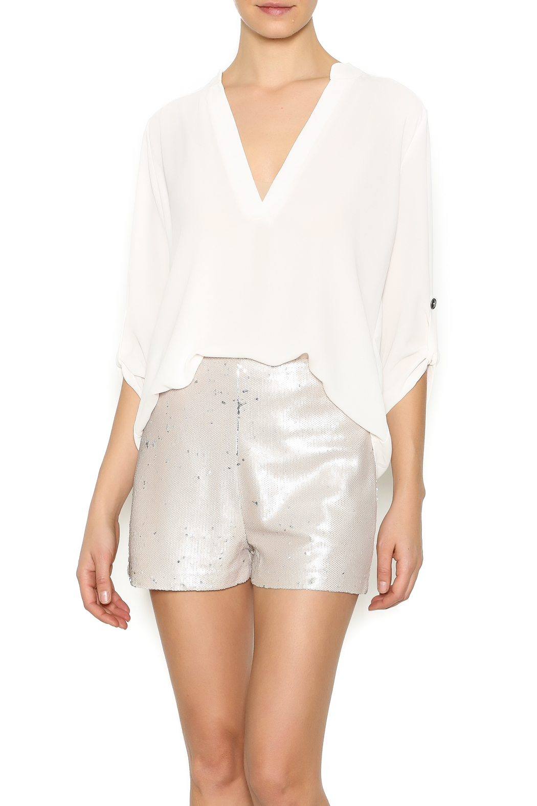 Lush Classic Blouse - Front Cropped Image