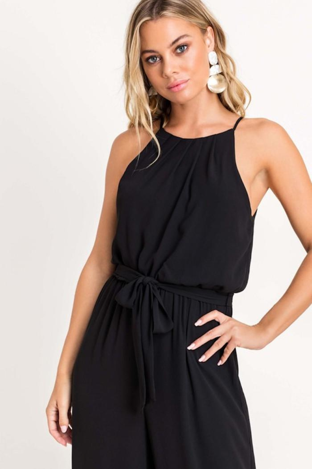 Lush Cocktail Hour Jumpsuit - Back Cropped Image
