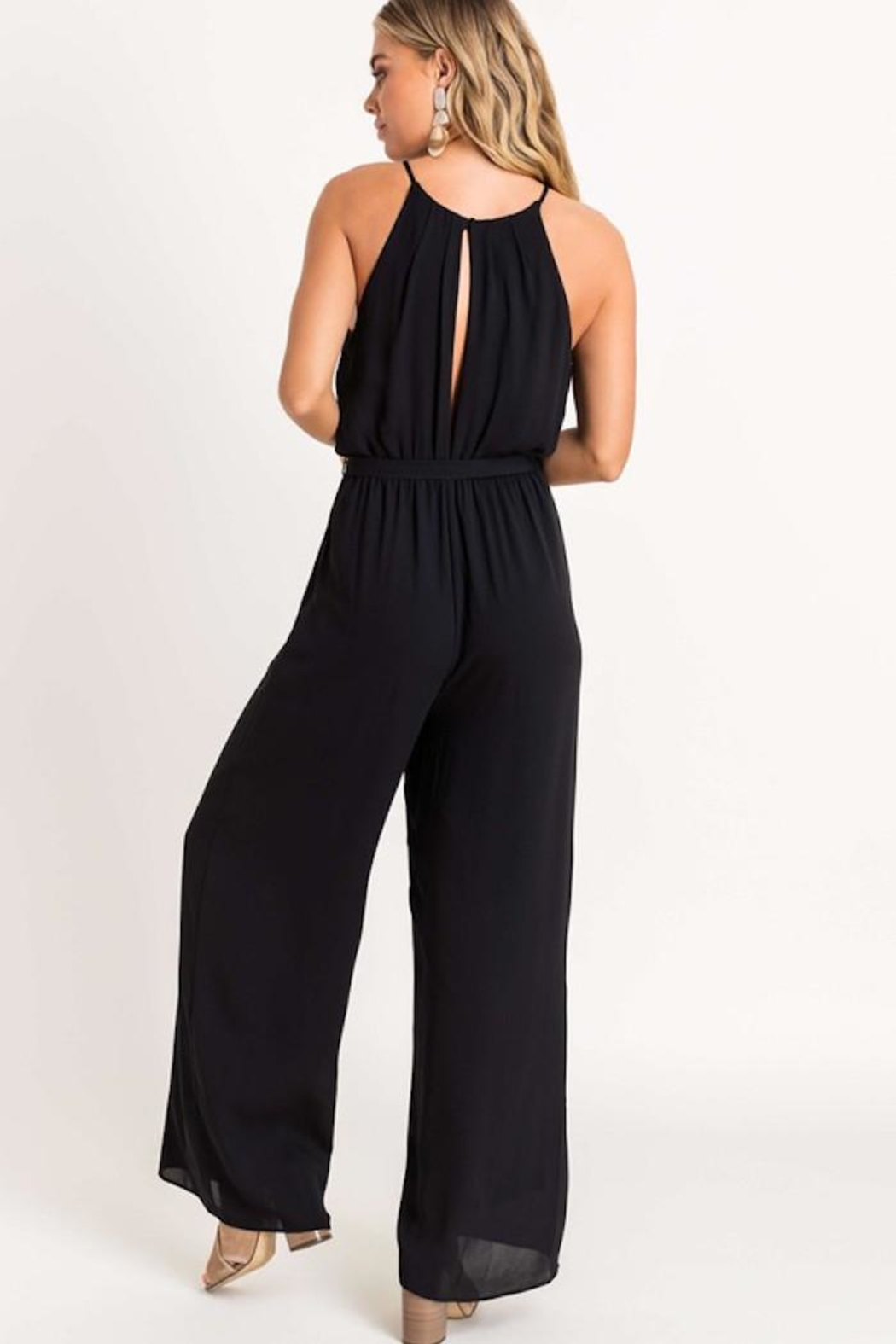 Lush Cocktail Hour Jumpsuit - Side Cropped Image