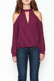 Lush Cold Shoulder Blouse - Front full body