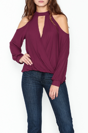 Lush Cold Shoulder Blouse - Front cropped