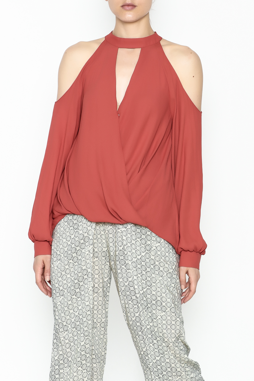 Lush Cold Shoulder Blouse - Main Image
