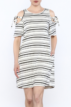 Shoptiques Product: Stripe Cold Shoulder Dress