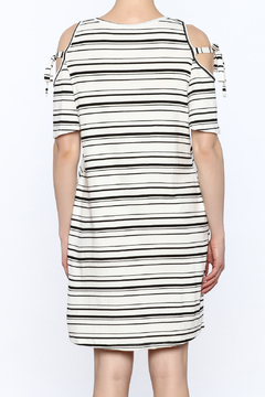 Lush Stripe Cold Shoulder Dress - Alternate List Image
