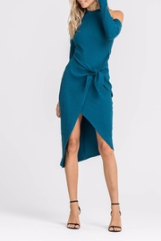 Lush Cold Shoulder Knit Dress - Product Mini Image