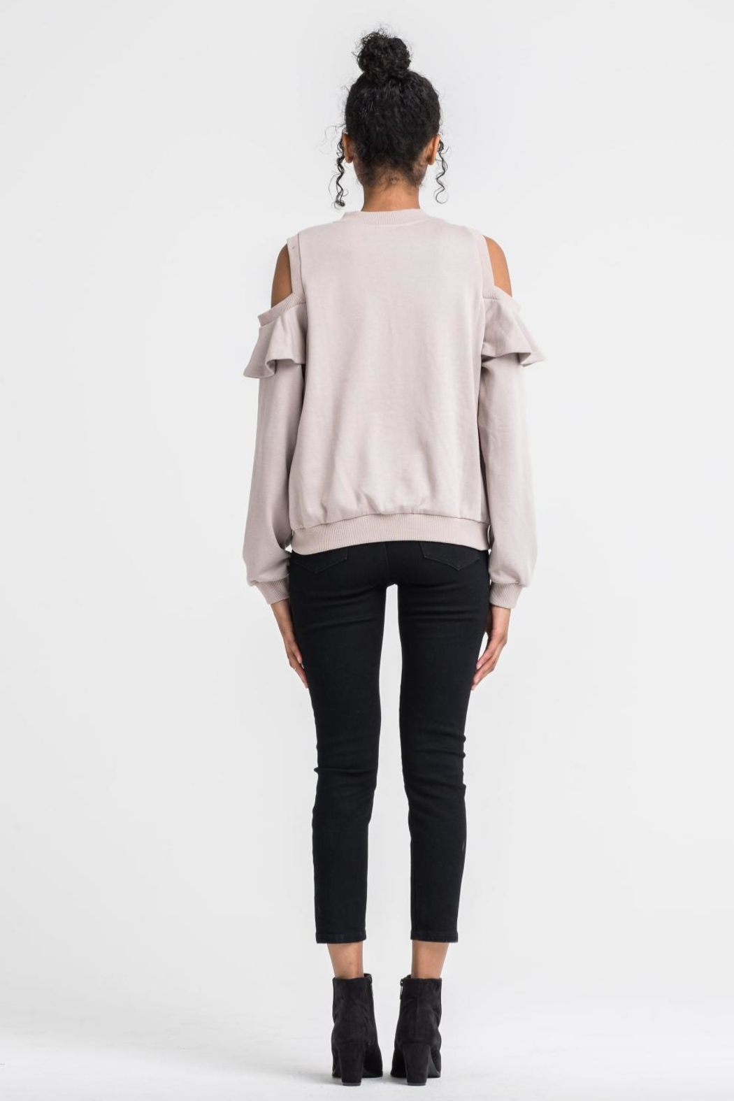 Lush Cold Shoulder Sweater - Side Cropped Image