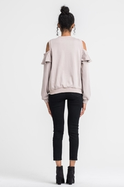 Lush Cold Shoulder Sweater - Side cropped