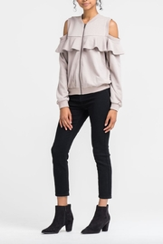 Lush Cold Shoulder Sweater - Front full body
