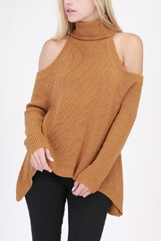 Lush Cold Shoulder Sweater - Product Mini Image