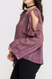 Lush Cold Shoulder Top - Front full body