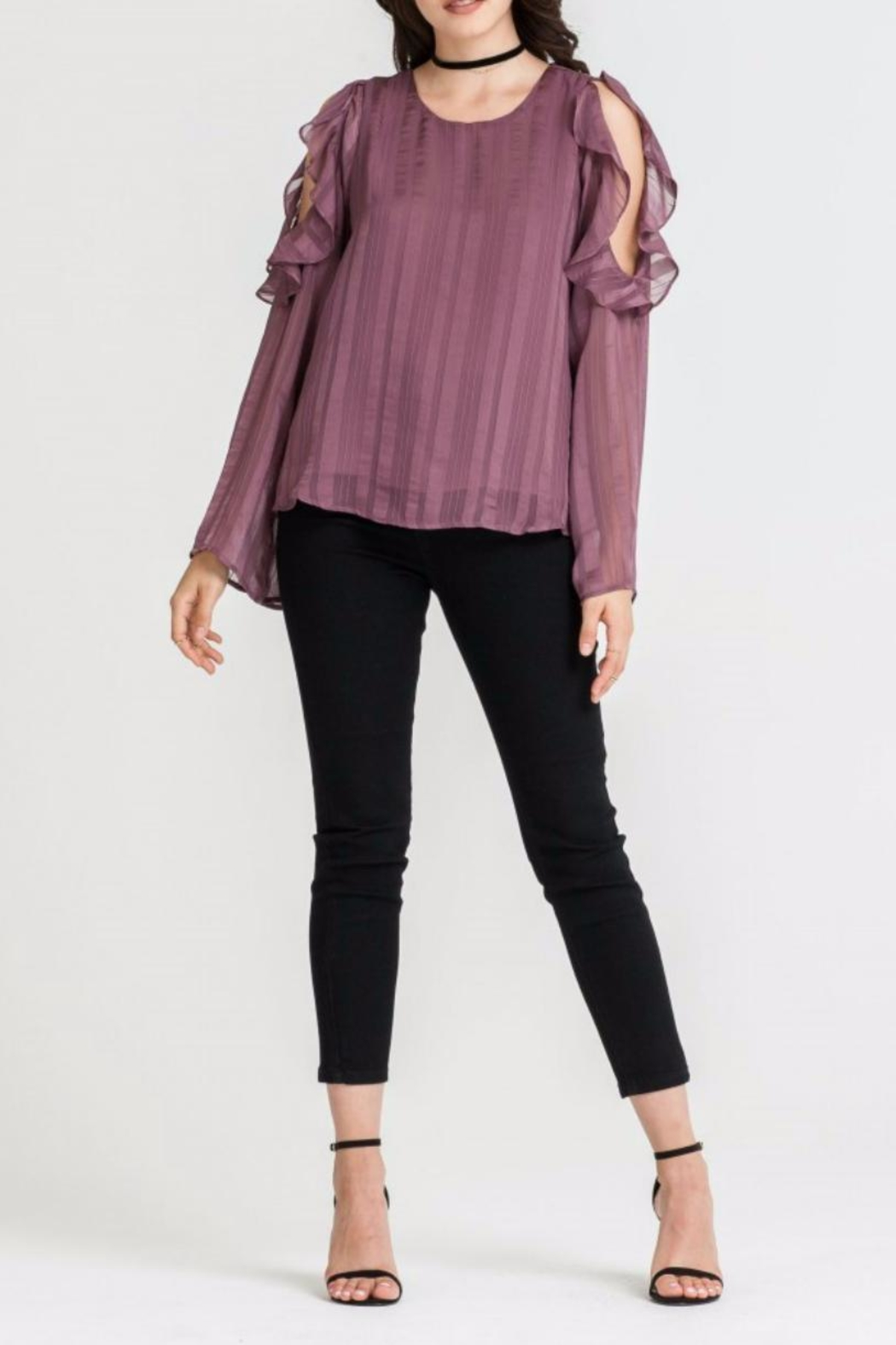 Lush Cold Shoulder Top - Main Image