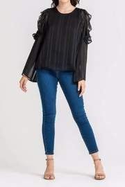 Lush Cold Shoulder Top - Front cropped