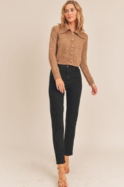 Lush Collared Button Cardigan - Side cropped