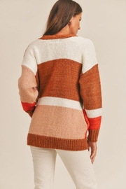 Lush Color Block Cardigan - Side cropped