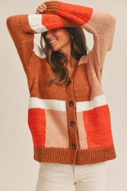 Lush Color Block Cardigan - Other