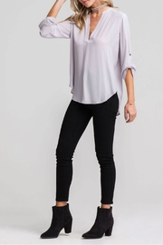 Lush Lovely Blue Blouse - Front cropped