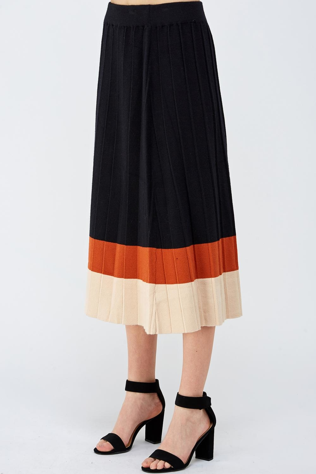 Lush Colorblock Sweater Skirt - Side Cropped Image
