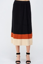 Lush Colorblock Sweater Skirt - Front cropped