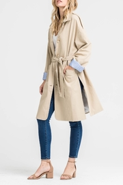 Lush Contrast Trench Coat - Front cropped
