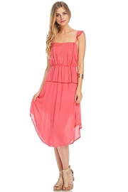 Lush Coral Embroidered Dress - Other