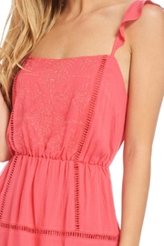Lush Coral Embroidered Dress - Back cropped