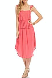 Lush Coral Embroidered Dress - Product Mini Image