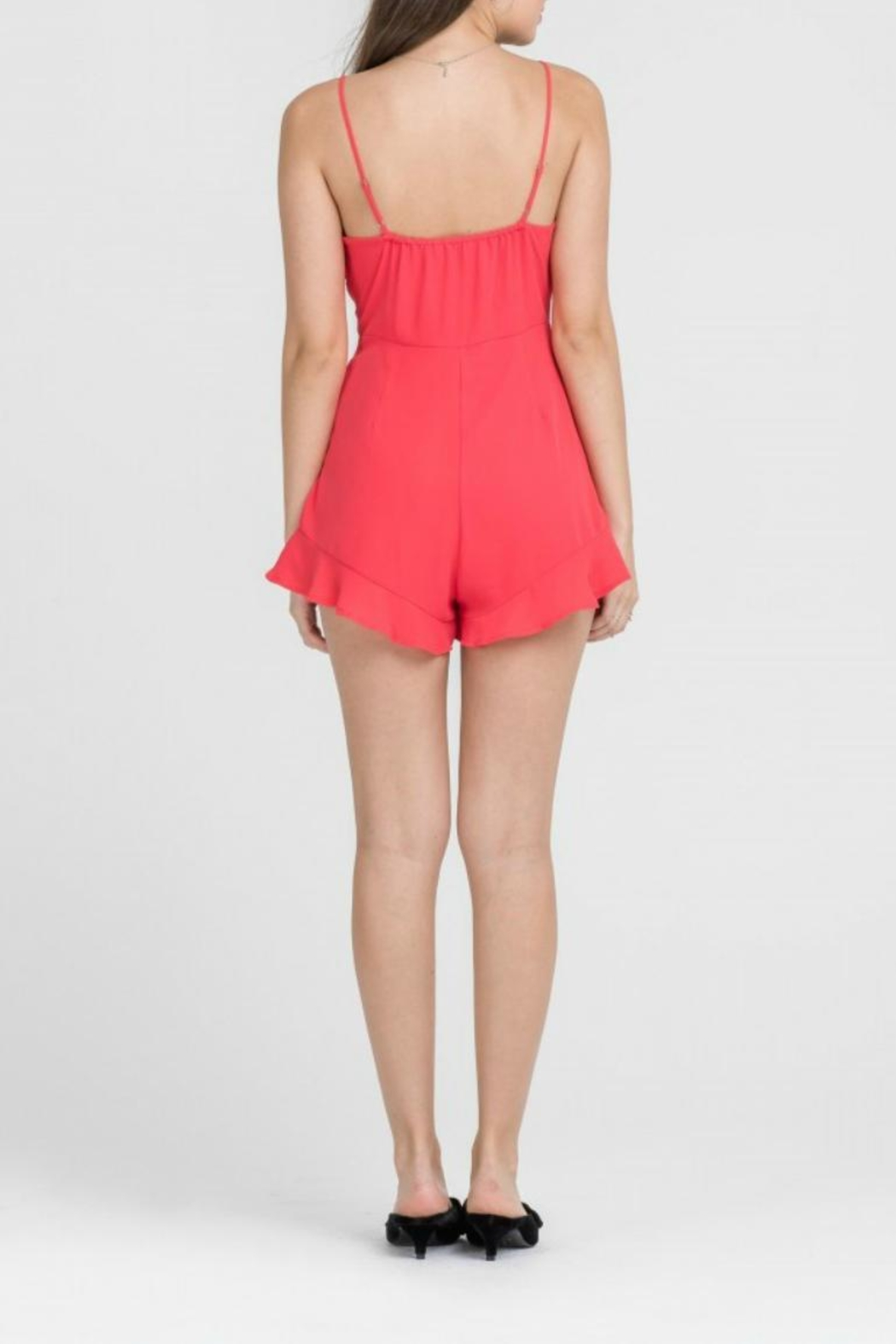 Lush Coral Romper - Front Full Image