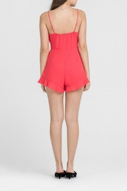 Lush Coral Romper - Front full body