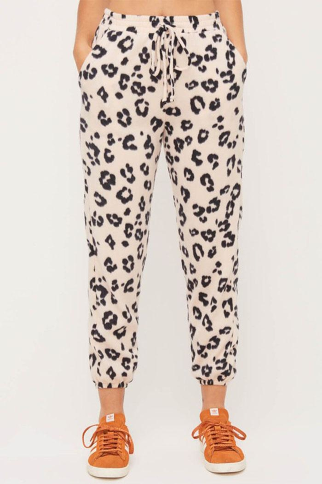 Lush Cozy Printed Pants - Front Full Image