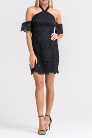 Lush Crochet Cocktail Dress - Front full body