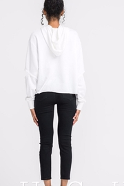 Lush Cutout Sleeve Hoodie - Front full body