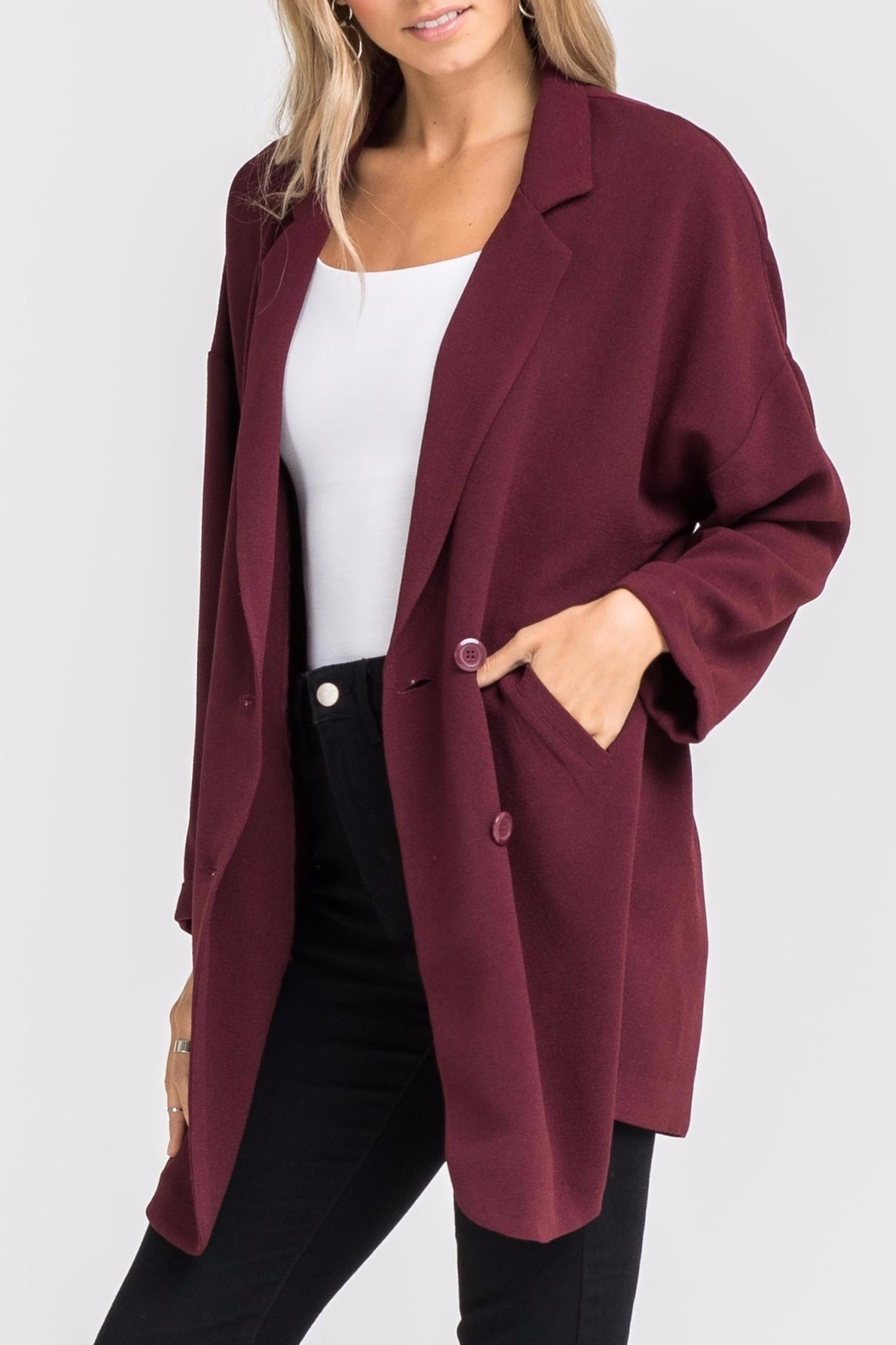 Lush Double-Breasted Jacket - Front Cropped Image