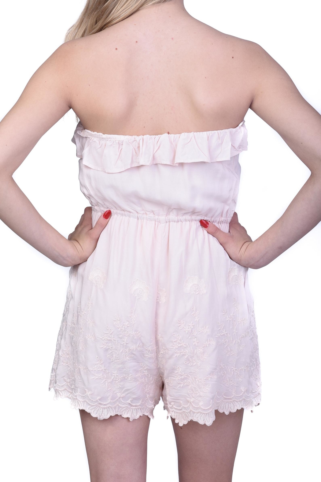 Lush Light Pink Embroidered Romper - Side Cropped Image