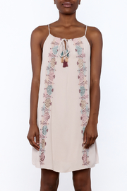 Lush Mauve Embroidered Dress - Side cropped