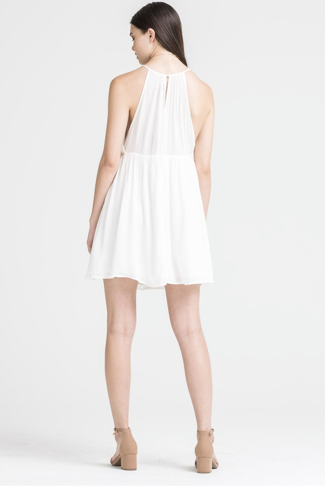 Lush Emroidered Dress - Side Cropped Image