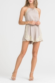 Lush Embroidered Romper - Product Mini Image