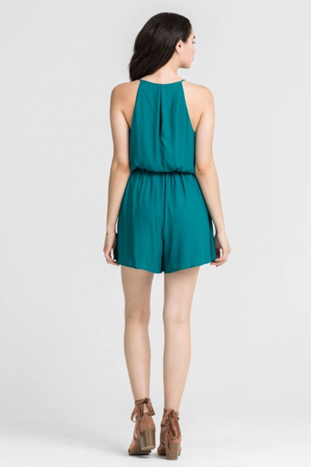 Lush Everglade Romper - Side Cropped Image